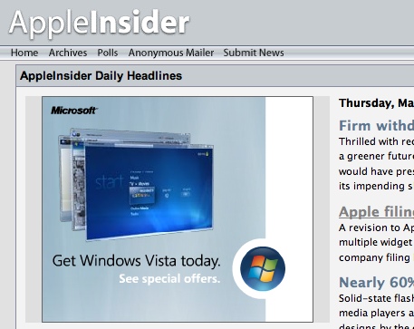 Windows Vista Add on AppleInsider